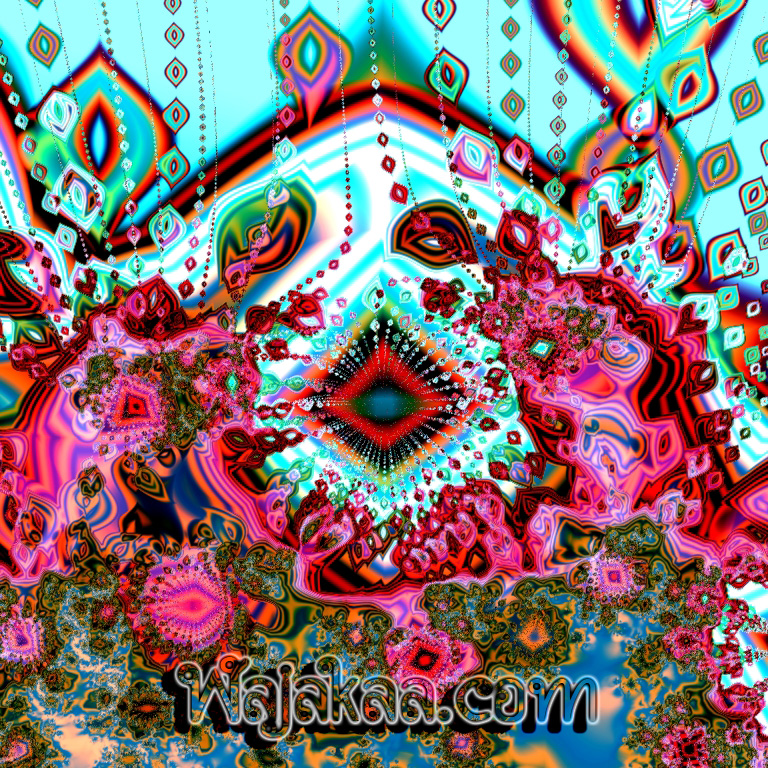 "WAJAKAA: That is reminiscent of the kinds of hallucinatory visions-- intricate, brightly colored, unusual, complex, imbued with meaning, and often geometrically organized-- that one sees with closed eyes during this hyperdimensional brain state has been dubbed ""Wajakaa"". Wajakaa art is not always inspired by a drug-induced experience, but often it is. Although sometimes referred to as visionary or surreal art-- in that, like dreams, they all draw upon the unconscious as their source of inspiration-- the truly psychedelic painting is charged with an unmistakable psychoactive intensity. Psychedelic art is, of course, best viewed and most appreciated while one is under the influence of a psychedelic"