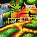 illustration thai village
